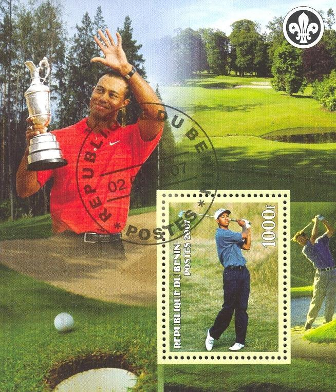 Stamps with Golf, Scouting from Benin (non official) (image for product #036772)