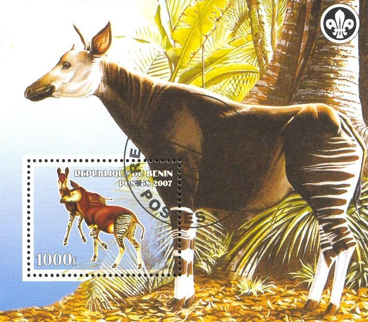 Stamps with Okapi, Scouting from Benin (non official) (image for product #036773)