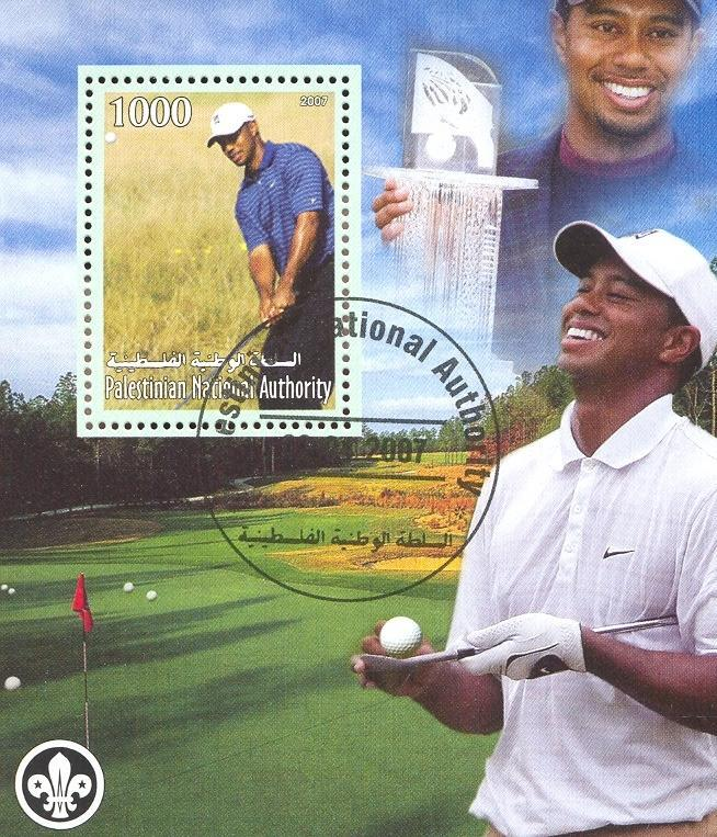 Stamps with Scouting, Golf from Palestinian Auth. (non official) (image for product #036774)