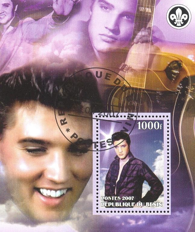 Stamps with Scouting, Elvis Presley, Cars from Benin (non official) (image for product #036780)