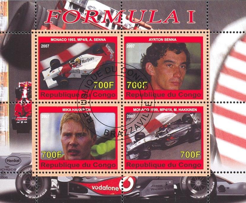 Stamps with Formula 1 from Congo (image for product #036788)