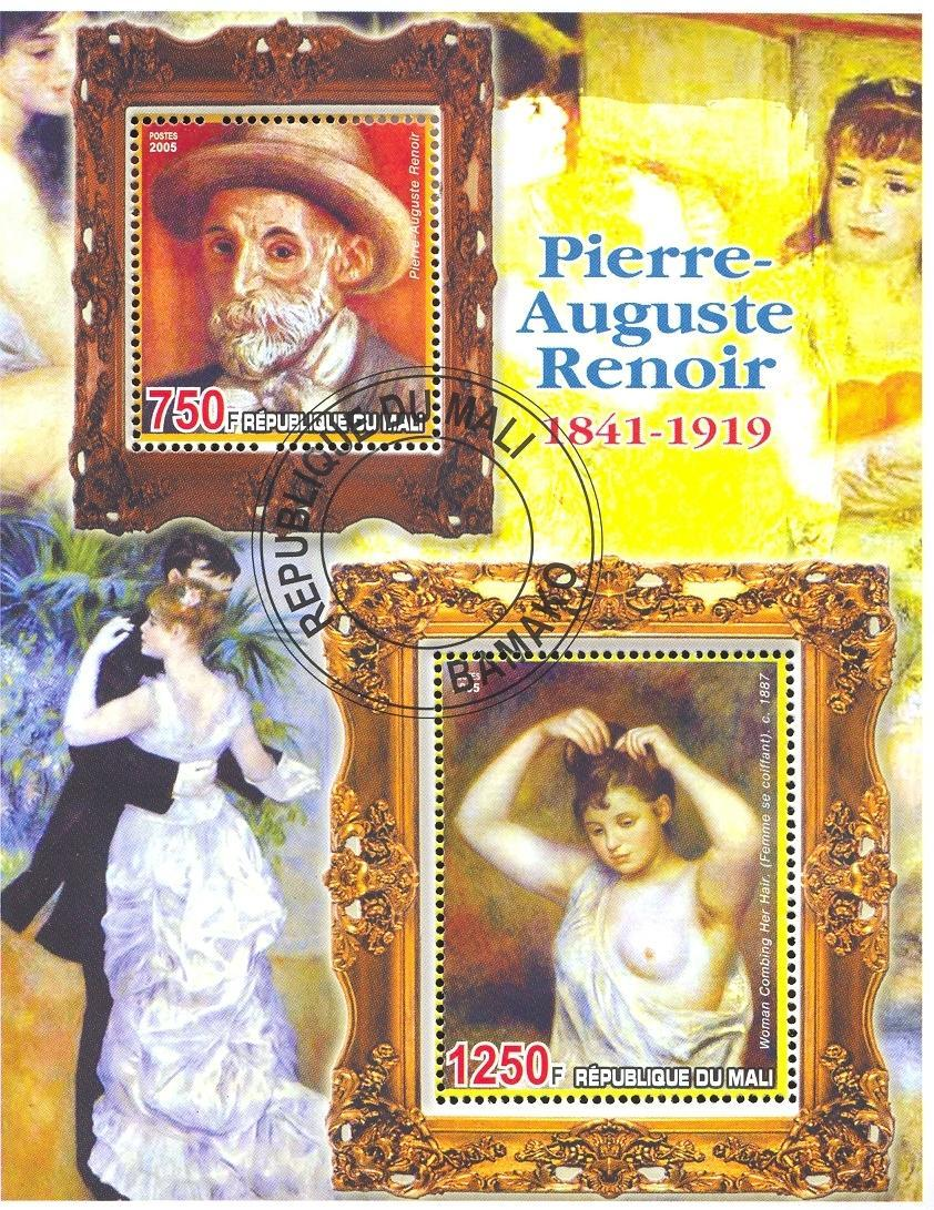 Stamps with Art, Nude, Renoir from Mali (image for product #036798)