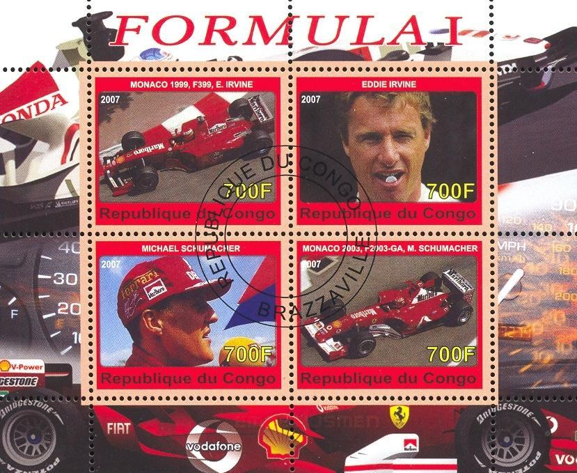 Stamps with Ferrari, Formula 1 from Congo (image for product #036808)