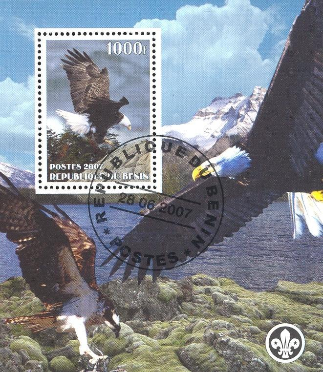 Stamps with Eagle, Scouting from Benin (non official) (image for product #036815)
