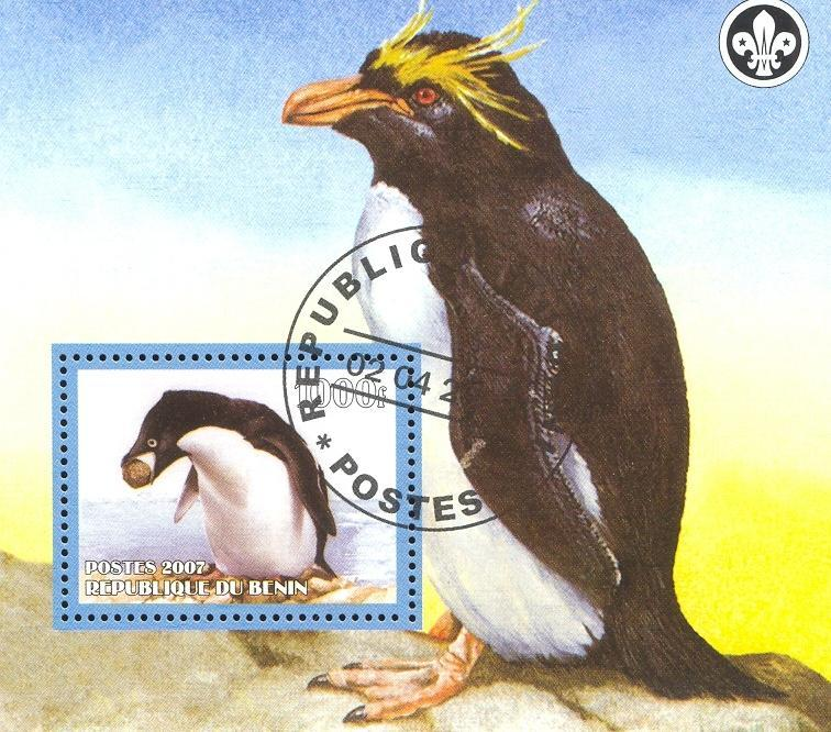 Stamps with Scouting, Penguin from Benin (non official) (image for product #036826)