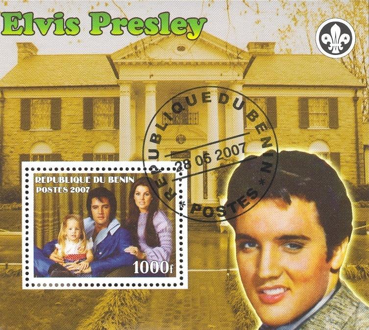 Stamps with Elvis Presley, Scouting from Benin (non official) (image for product #036836)