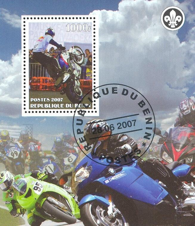 Stamps with Scouting, Motorcycle from Benin (non official) (image for product #036845)