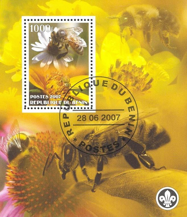 Stamps with Scouting, Insects, Bees from Benin (non official) (image for product #036846)