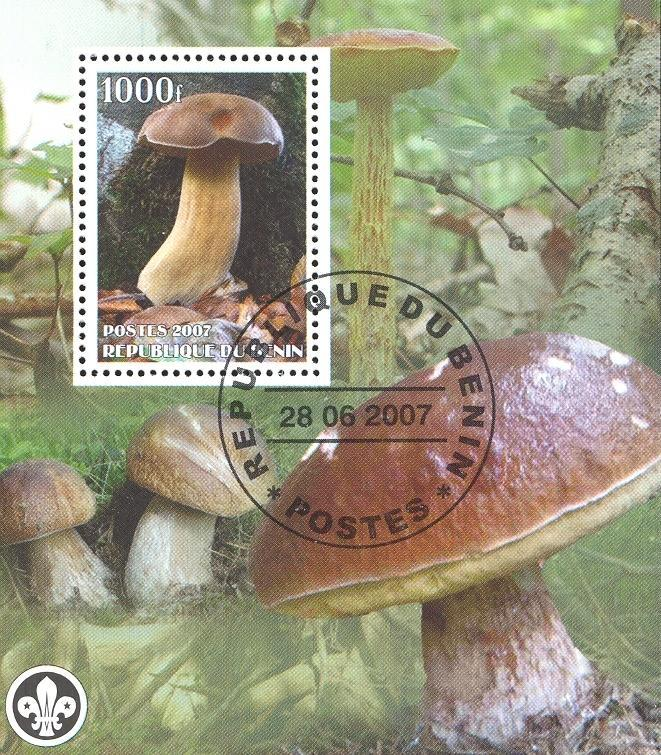 Stamps with Scouting, Mushrooms from Benin (non official) (image for product #036848)