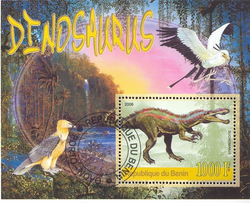 Stamps with Dinosaurs, Bird from Benin (non official) (image for product #036871)