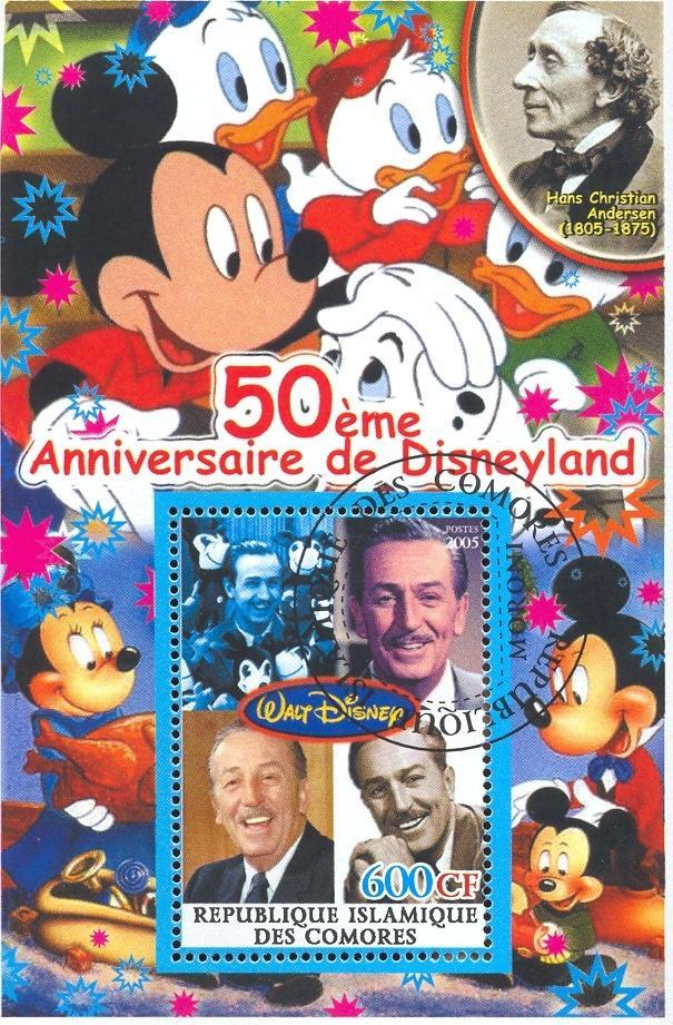 Stamps with Disney, Cartoon from Congo (non official) (image for product #036880)