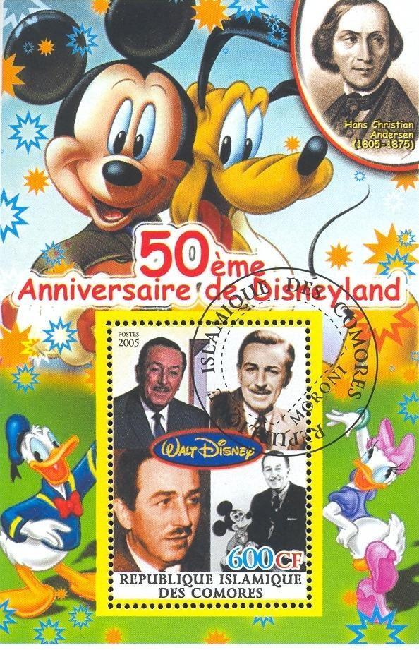 Stamps with Disney, Cartoon from Comoros (non official) (image for product #036882)