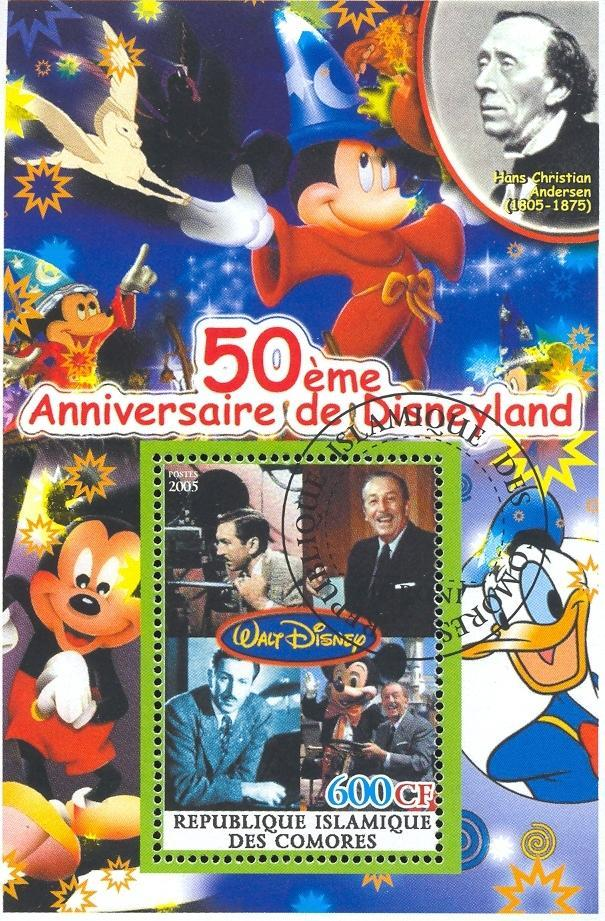 Stamps with Disney, Cartoon, Camera, Magician from Comoros (non official) (image for product #036883)