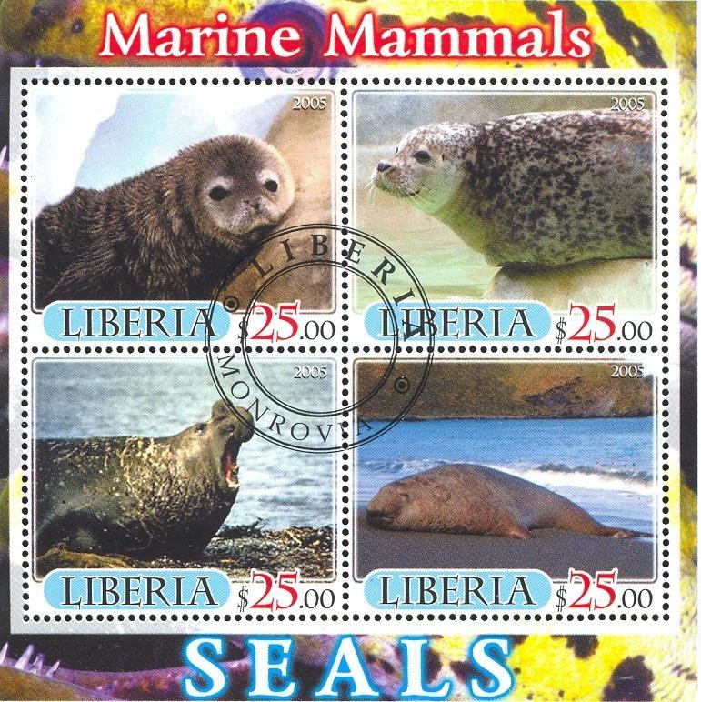 Stamps with Seal from Liberia (image for product #036884)