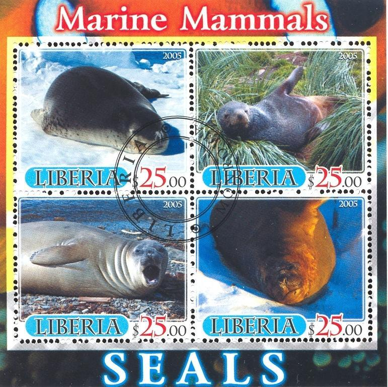 Stamps with Seal from Liberia (image for product #036885)