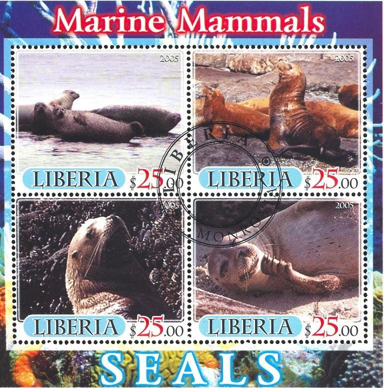 Stamps with Seal from Liberia (image for product #036886)