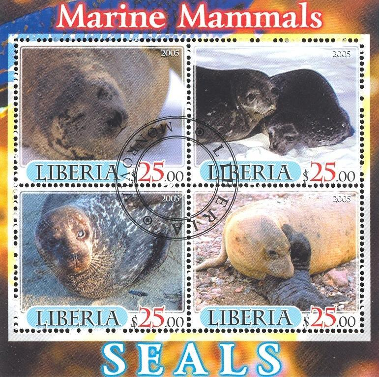 Stamps with Seal from Liberia (image for product #036887)