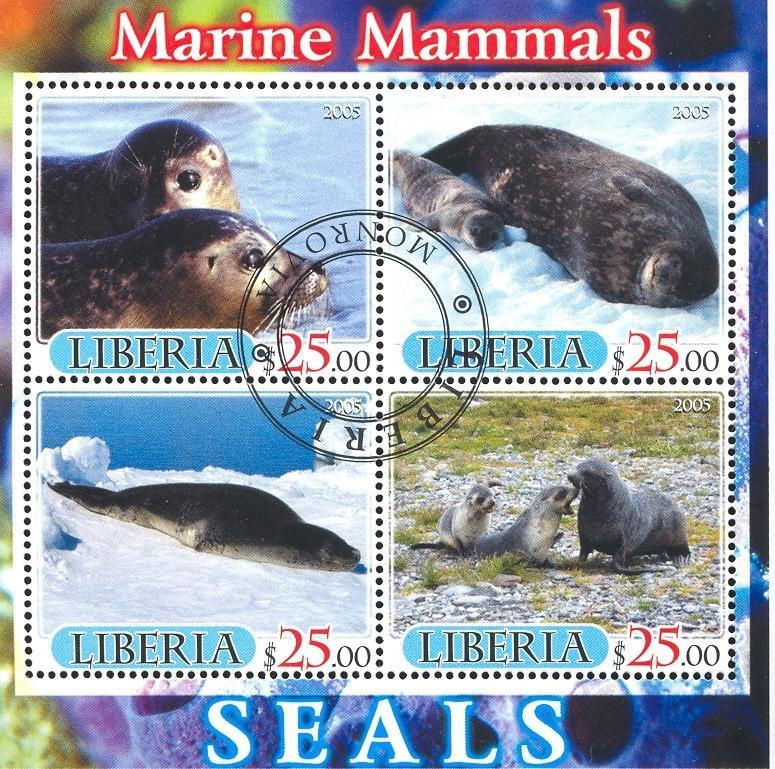 Stamps with Seal from Liberia (image for product #036889)