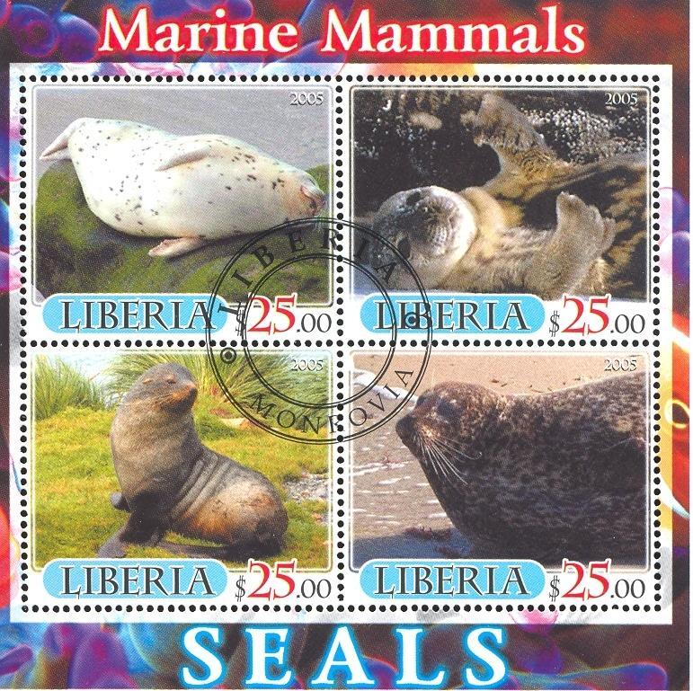Stamps with Seal from Liberia (image for product #036890)