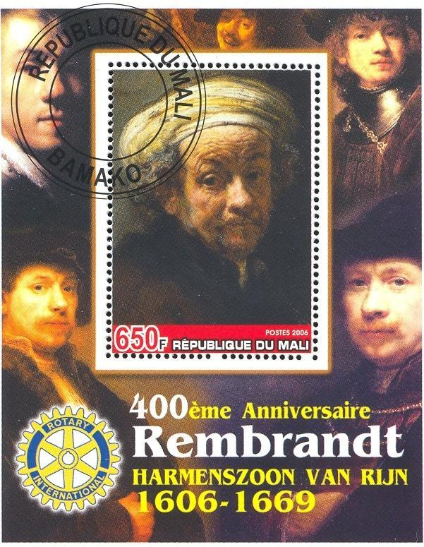 Stamps with Art, Rotary, Rembrandt from Mali (image for product #036911)
