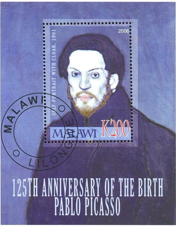 Stamps with Art, Picasso from Malawi (non official) (image for product #036912)