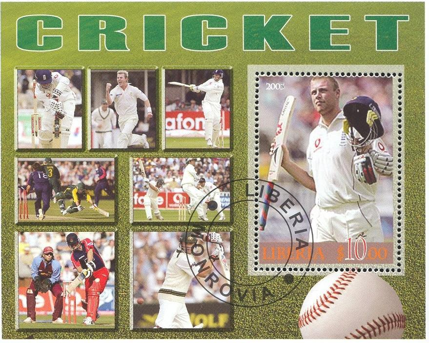 Stamps with Cricket from Liberia (image for product #036913)