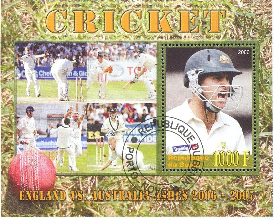 Stamps with Cricket from Benin (non official) (image for product #036914)