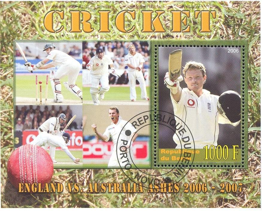 Stamps with Cricket from Liberia (image for product #036915)
