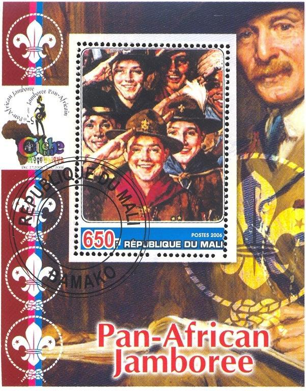 Stamps with Scouting, Baden Powell, Rockwell (Norman) from Mali (non official) (image for product #036916)