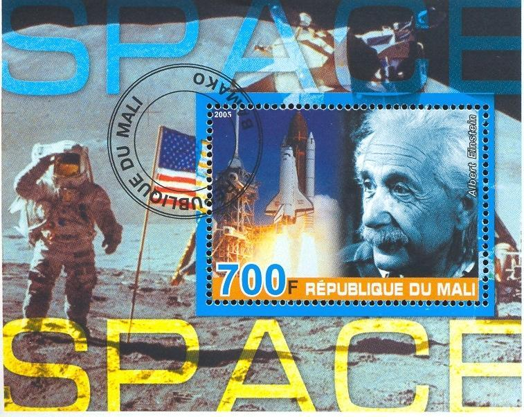 Stamps with Space, Flag, Einstein from Mali (non official) (image for product #036919)