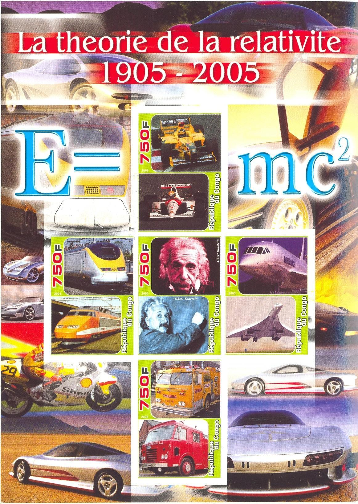 Stamps with Concorde, Train / Railway, Motorcycle, Formula 1, Einstein, Oil, Firefighters / engines, Racing Cars from Congo (non official) (image for product #036951)
