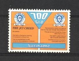 Stamps with Youth from Suriname (image for product #037226)