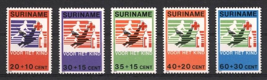 Stamps with Bird, Red Cross from Suriname (image for product #037231)