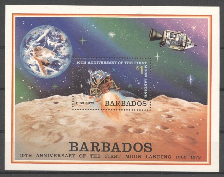 Stamps with Space from Barbados (image for product #037457)