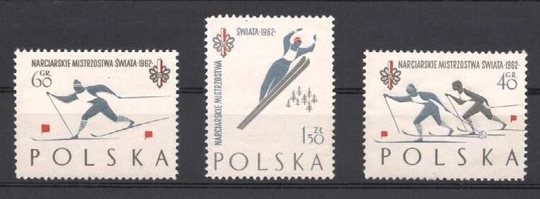 Stamps with Ski from Poland (image for product #037478)