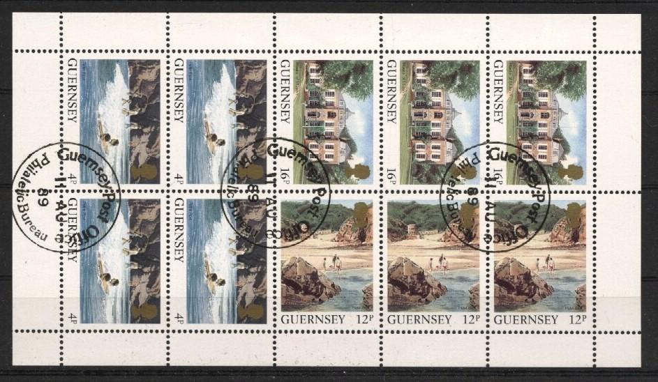 Stamps with Booklet / Pane, Sights from Guernsey (image for product #037506)