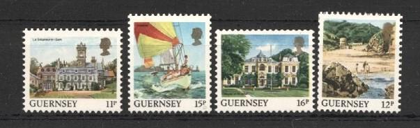 Stamps with Sailing, Landscapes from Guernsey (image for product #037528)