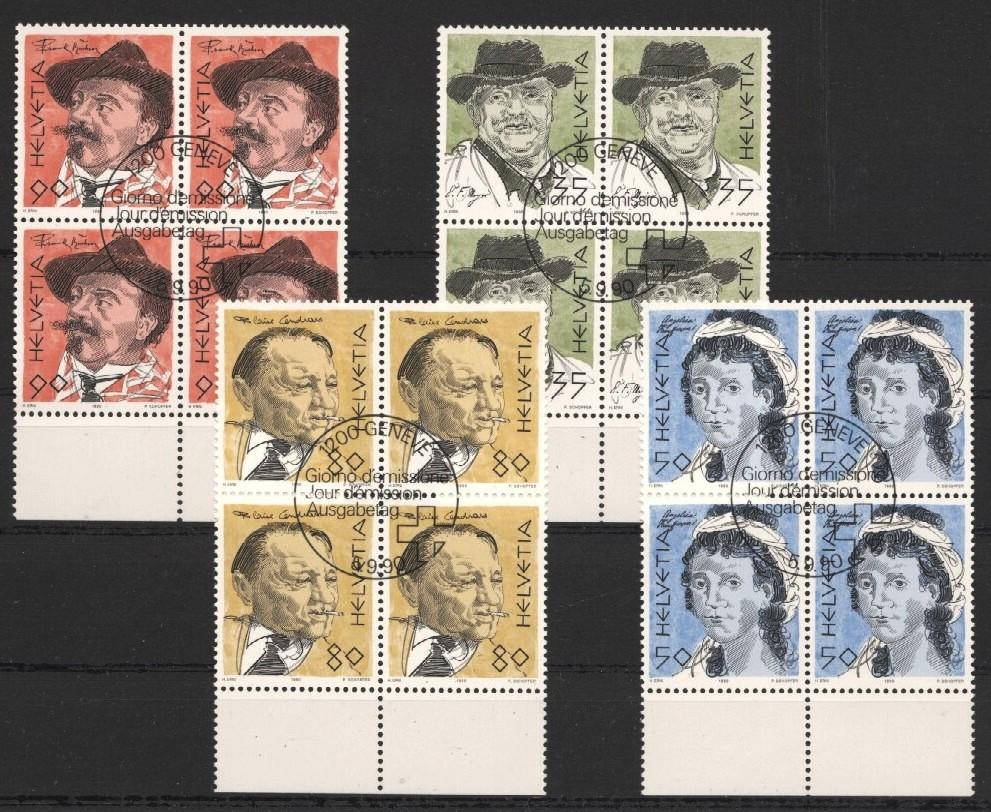 Stamps with Famous Persons from Switzerland (image for product #037547)