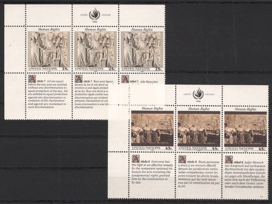 Stamps with Human Rights from United Nations (image for product #037551)