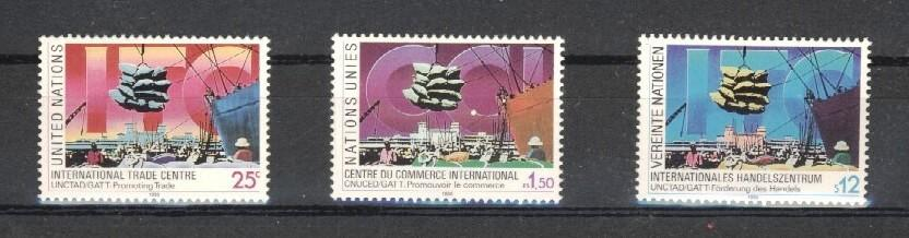 Stamps with Ship from United Nations (image for product #037569)