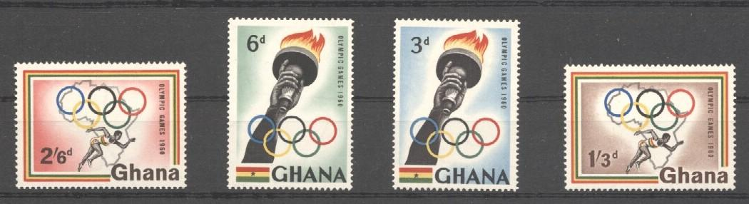 Stamps with Olympic Games, Athletics from Ghana (image for product #037611)