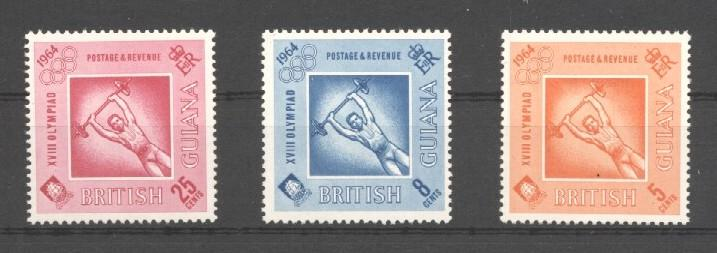 Stamps with Weightlifting from Guyana (image for product #037613)