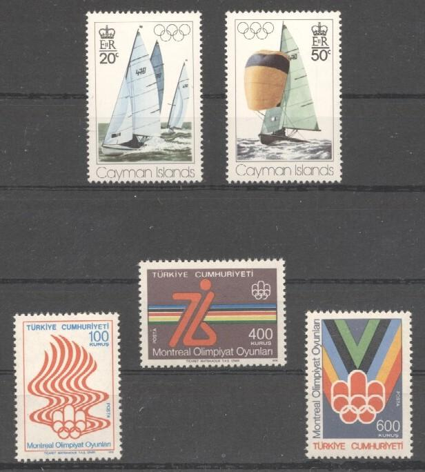 Stamps with Sailing, Olympic Games from World (image for product #037662)