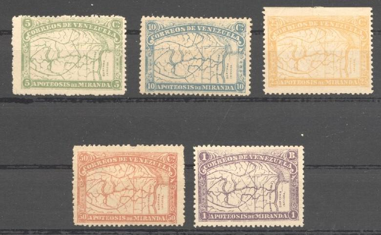 Stamps with Map from Venezuela (image for product #037815)