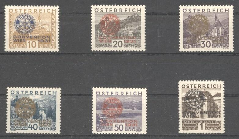 Stamps with Rotary from Austria (image for product #037839)