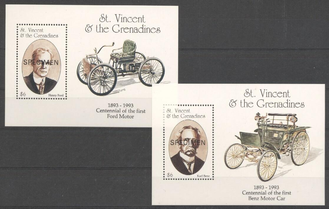 Stamps with Cars, Oldtimers from St. Vincent (image for product #037866)