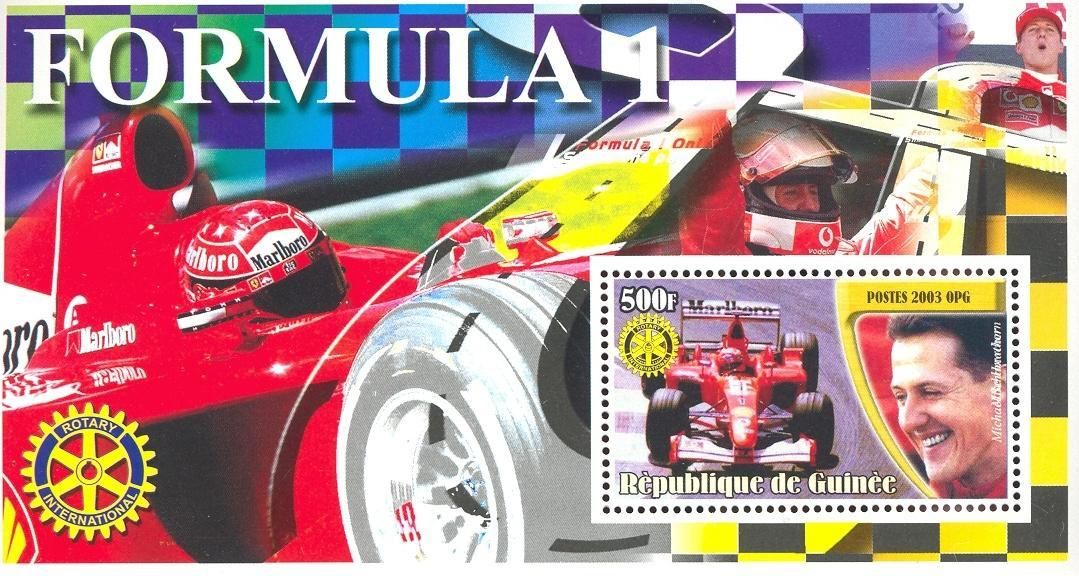 Stamps with Rotary, Formula 1, Racing Cars from Guinea (image for product #037890)
