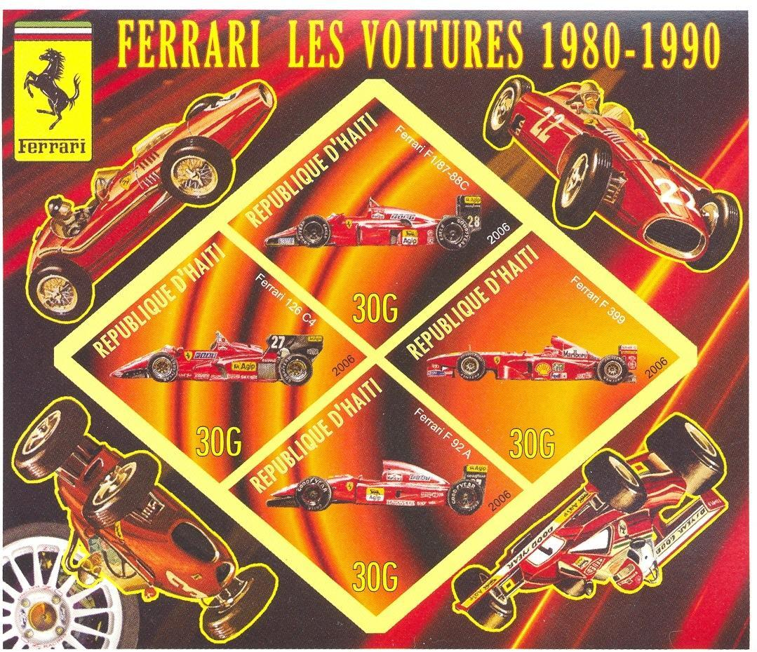 Stamps with Formula 1, Ferrari, Racing Cars from Haiti (non official) (image for product #037907)