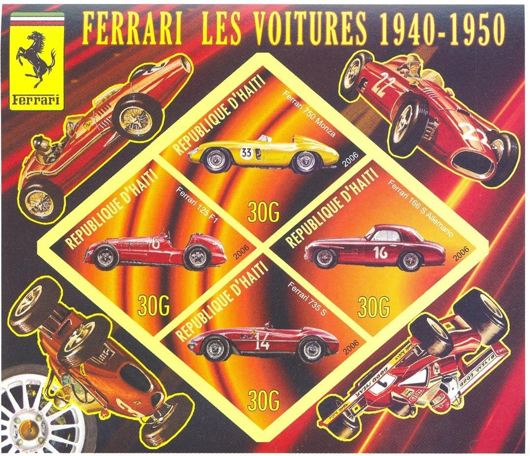 Stamps with Formula 1, Ferrari, Racing Cars from Haiti (non official) (image for product #037909)