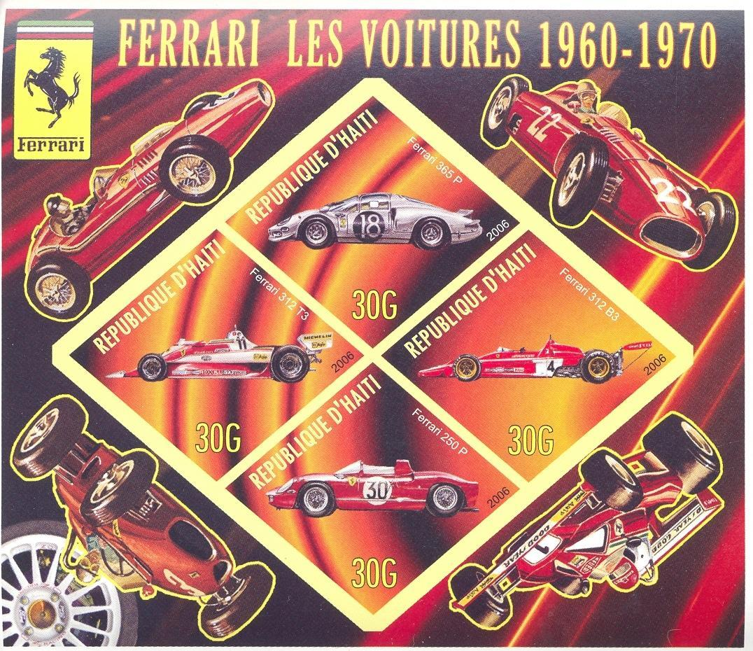 Stamps with Formula 1, Ferrari, Racing Cars from Haiti (non official) (image for product #037910)